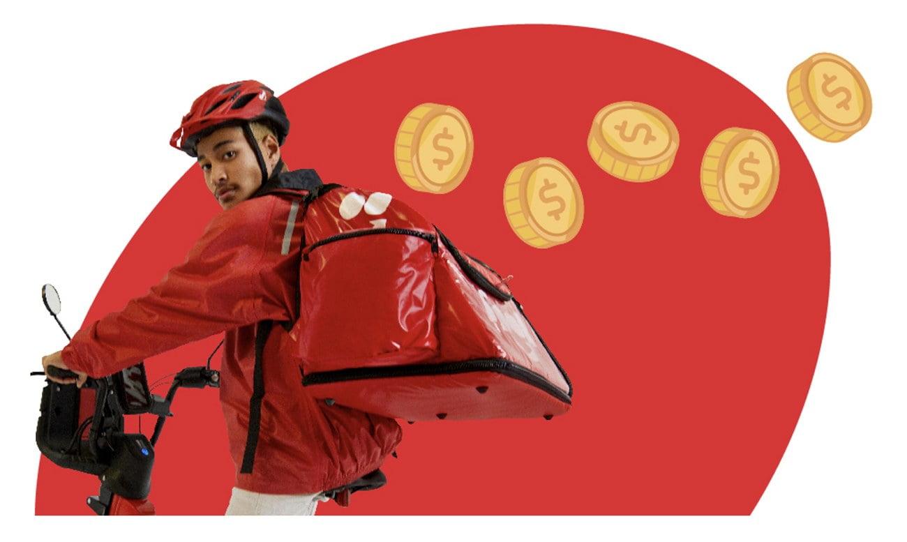Imagem de entrega iFood com bicicleta
