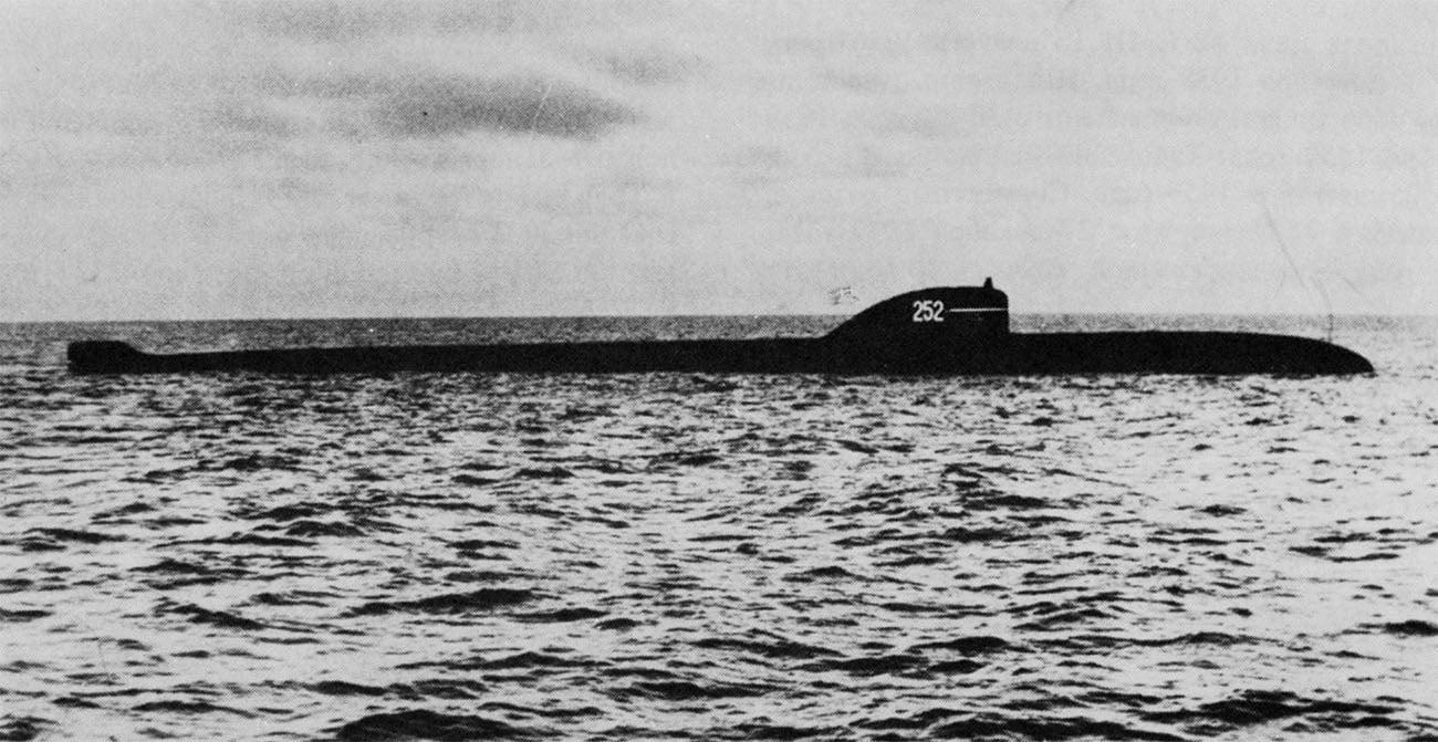 Imagem do submarino russo K 8