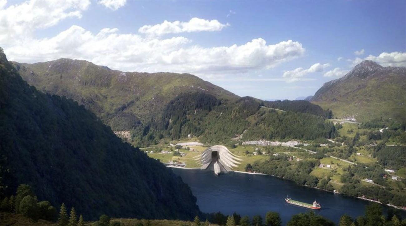 Ilustração mostra túnel para navios