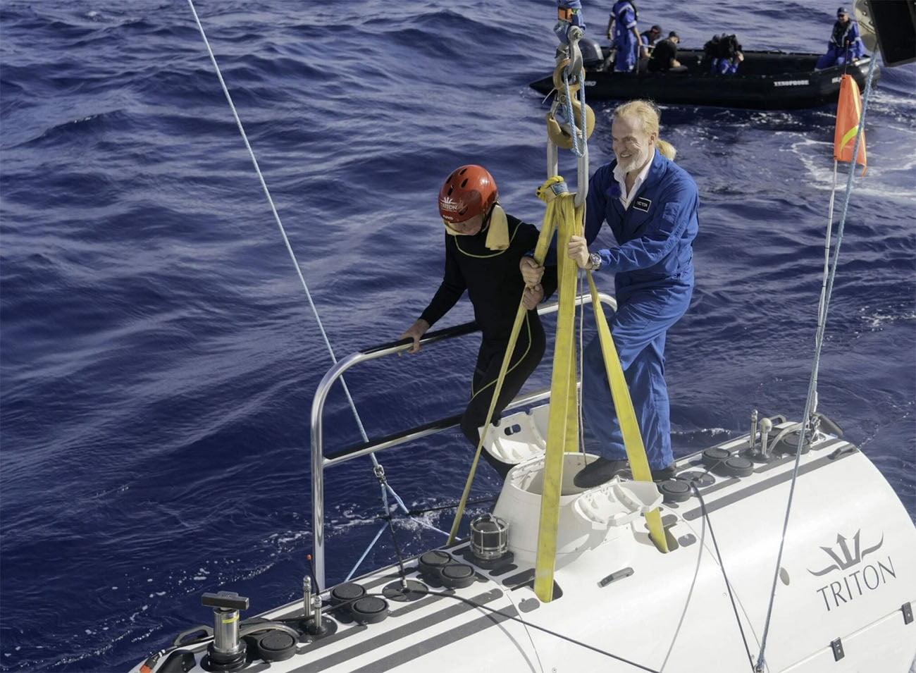 Imagem de Victor Vescovo e seu submarino