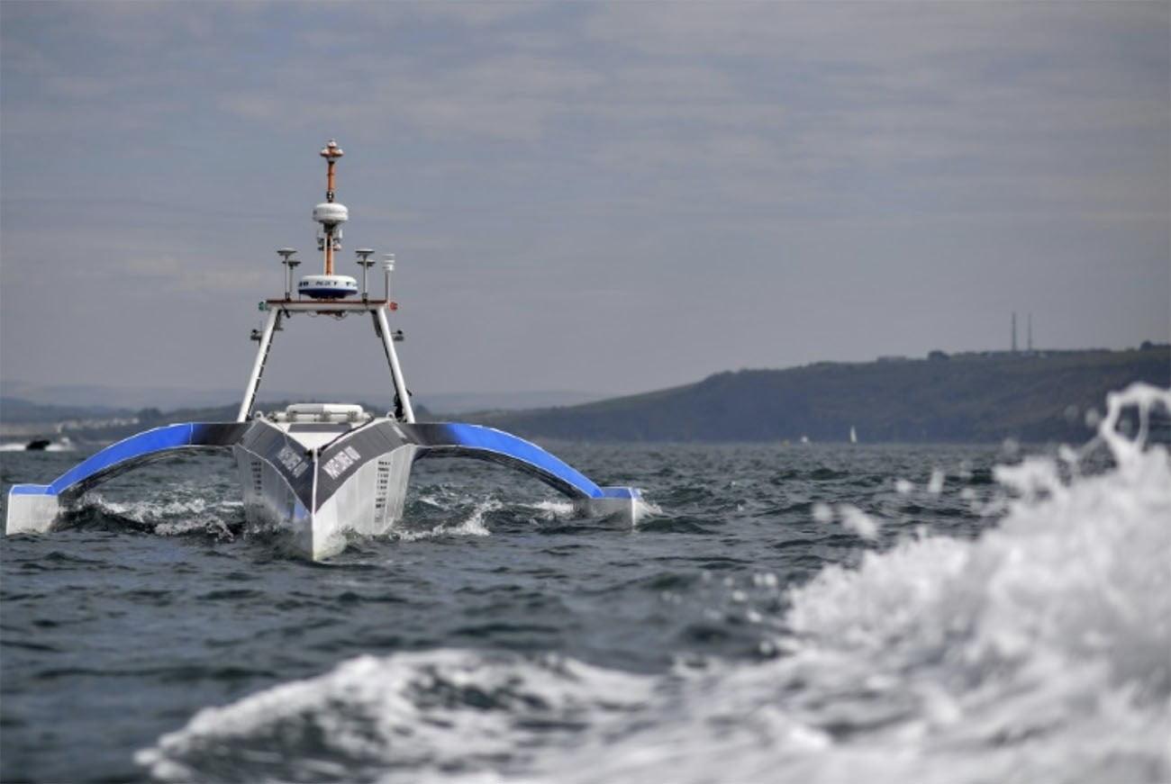 Imagem do primeiro nbarco autônomo do mundo
