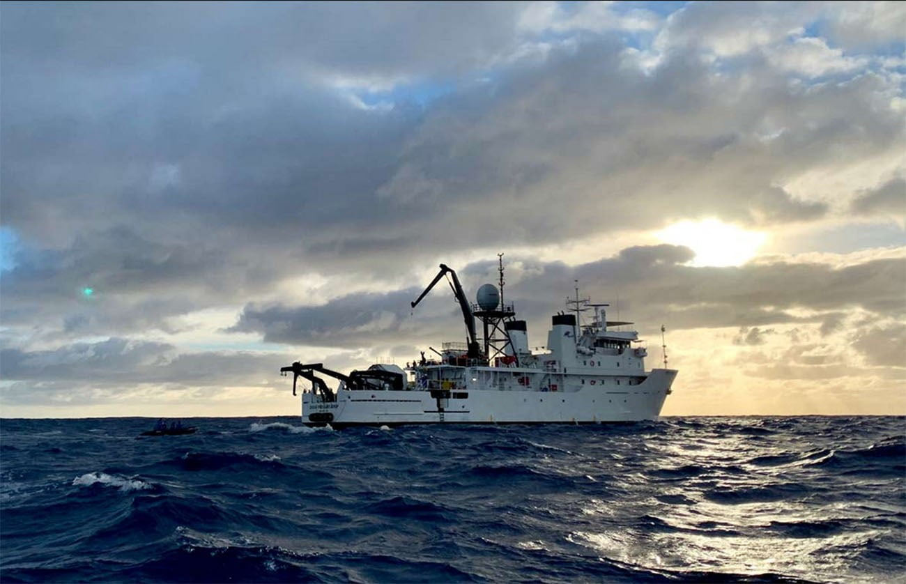 Imagem do navio usado na expedição Five Deeps