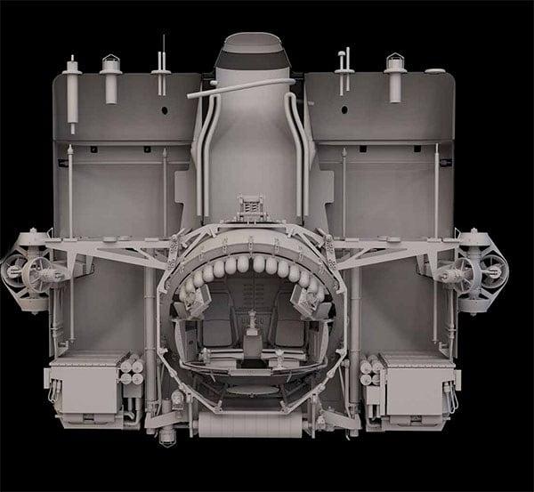 Imagem do submarino que desceu nos locais mais profundos dos oceanos