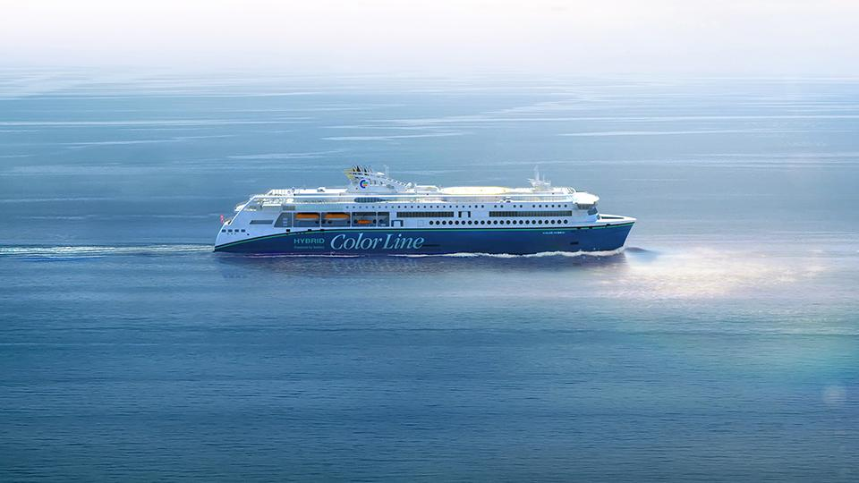 Imagem de navio híbrido