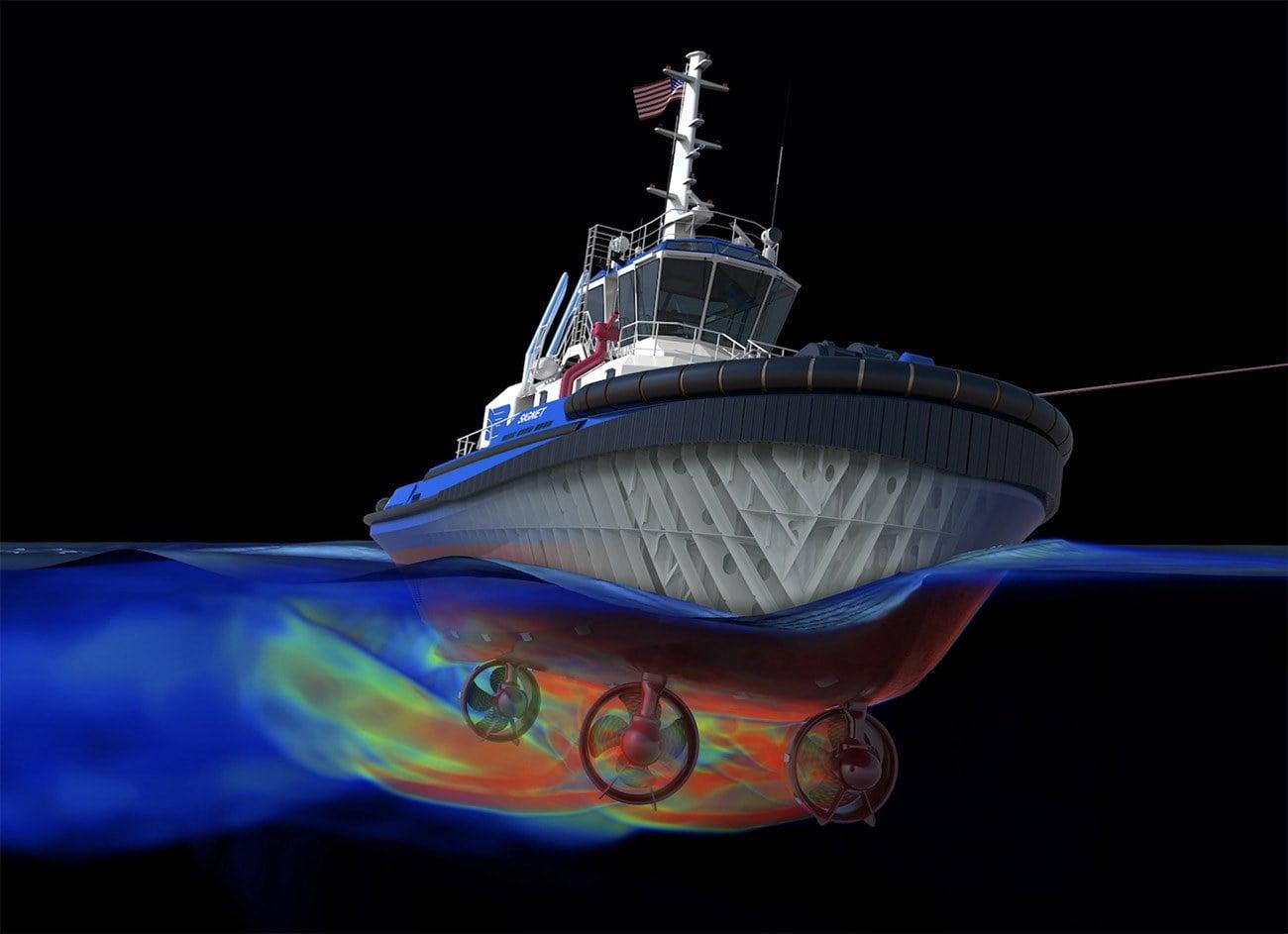 Imagem de embarcação 3D