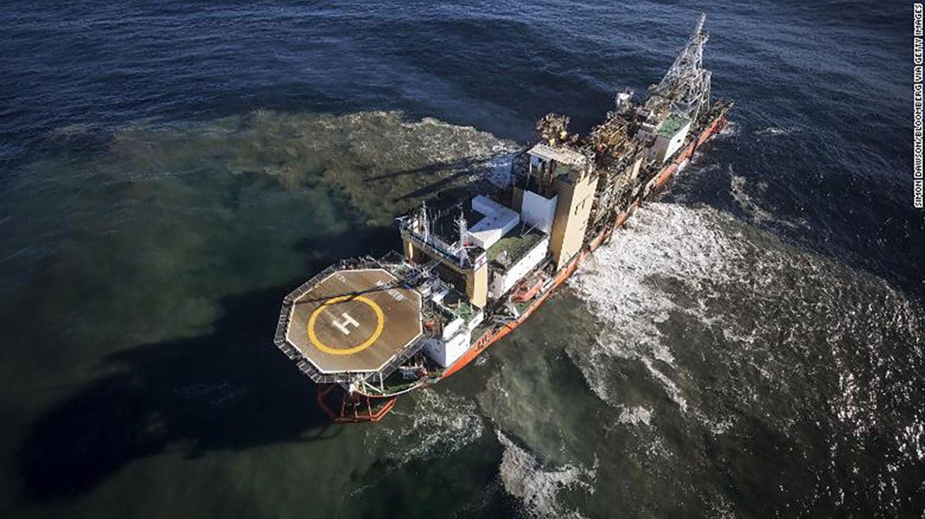 Imagem de navio de mineração de diamantes