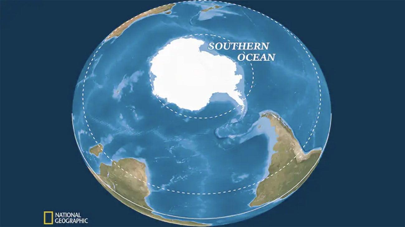 Ilustração mostra oceano Antártico