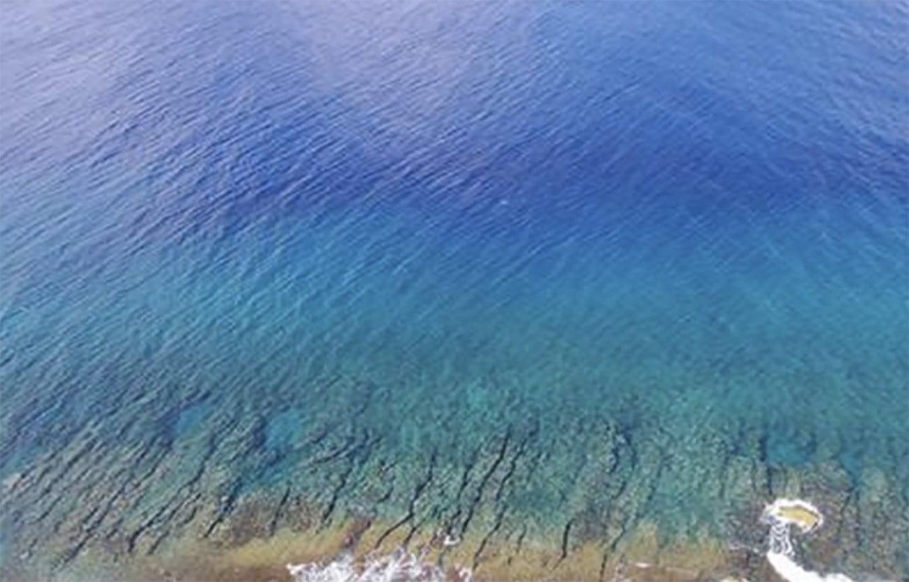 Imagem mostra que oceano é azul