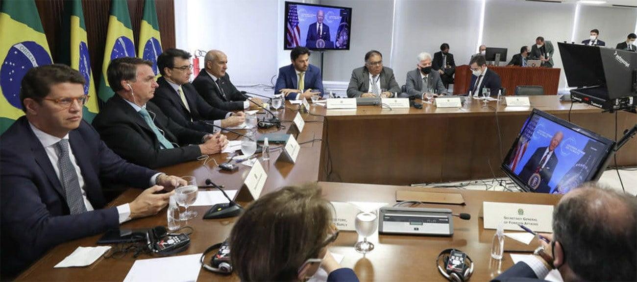 Imagem de Bolsonaro e Ricardo Salles
