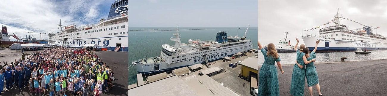 Imagem do navio-hospital Africa Mercy