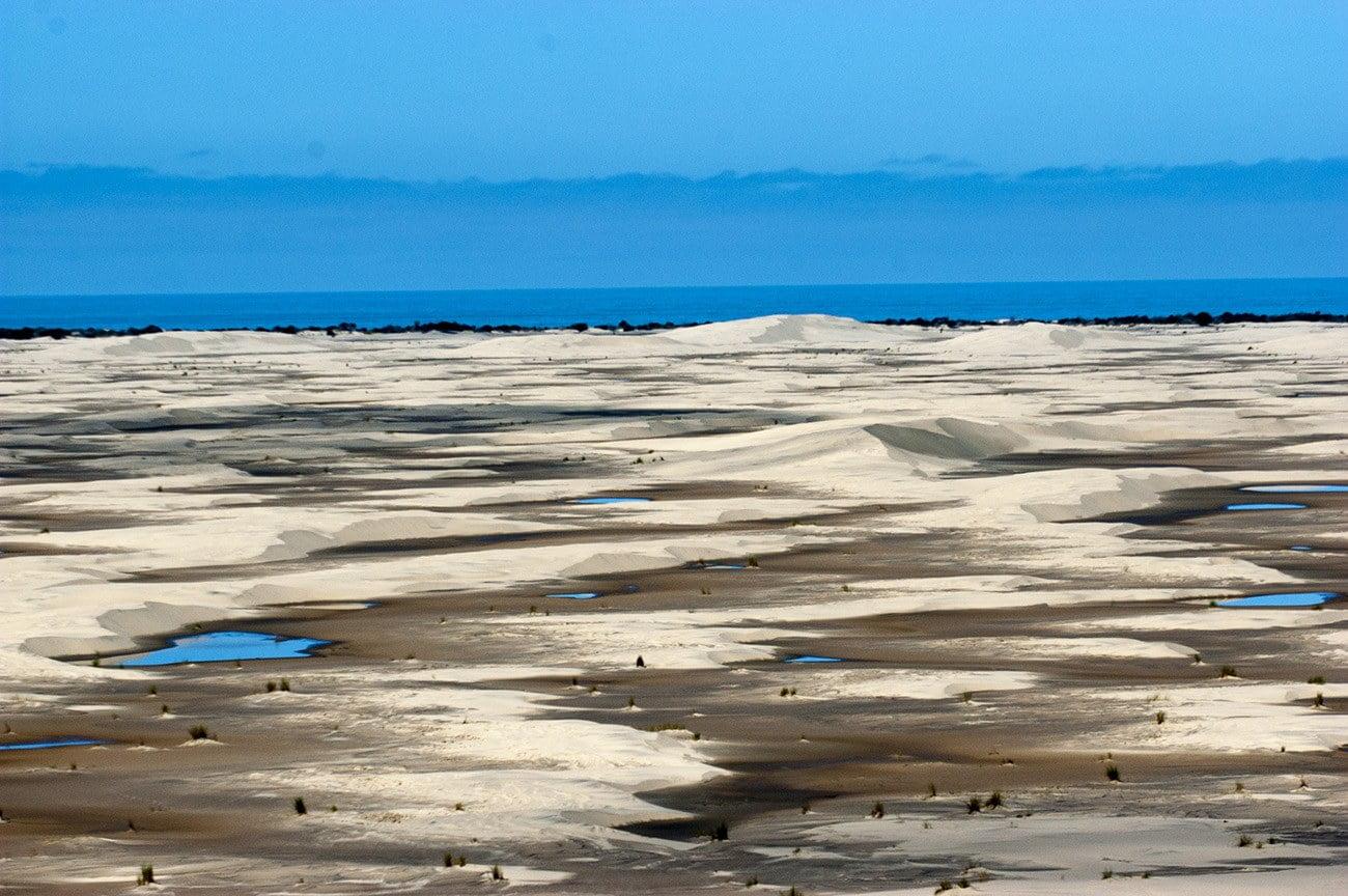Imagem da planicie costera gaúcha