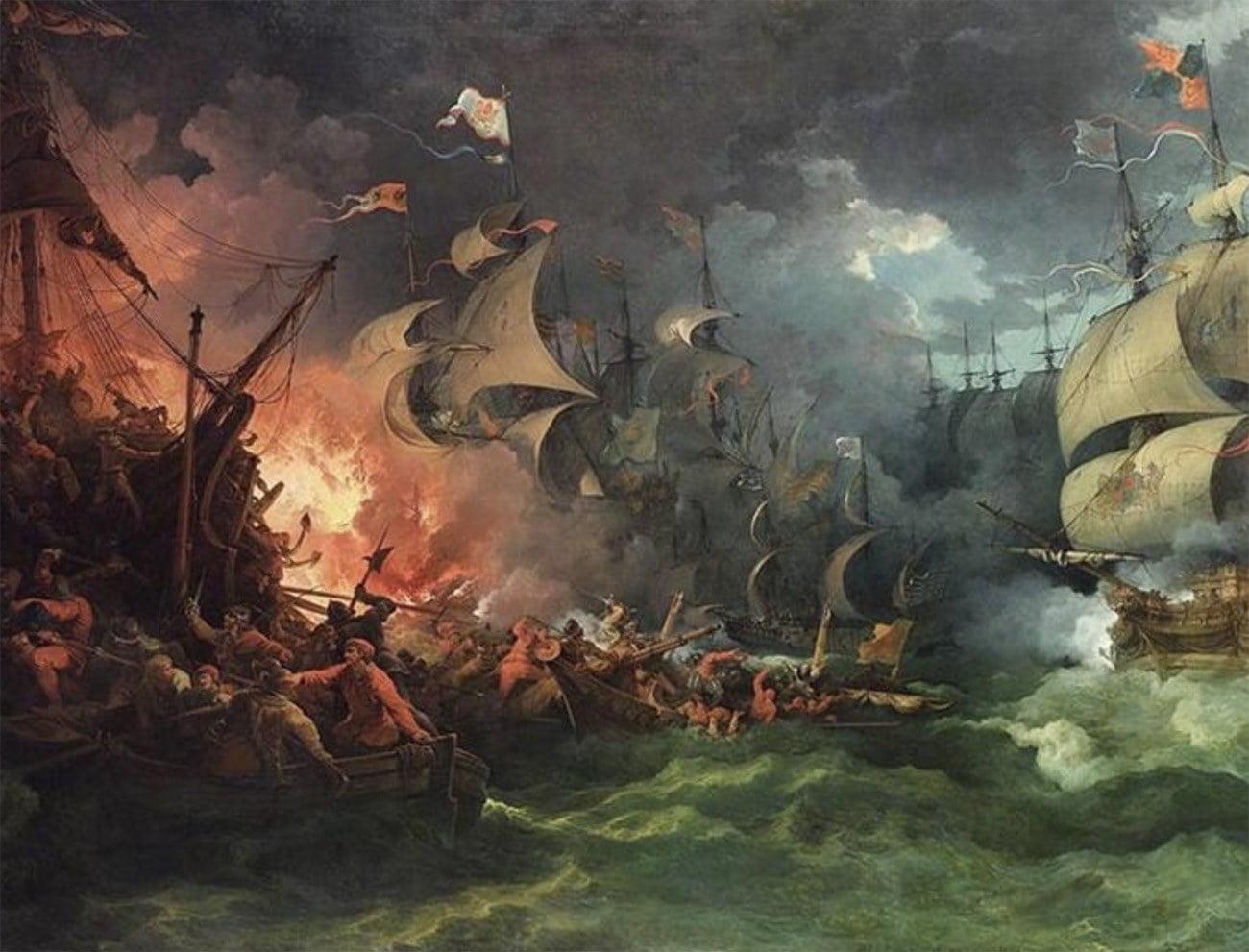Imagem do quadro Derrota da Armada Espanhola