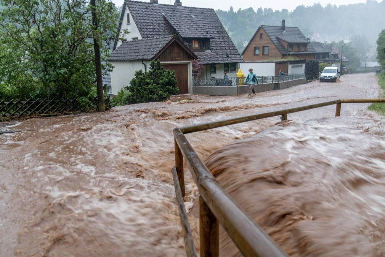Imagem de enchente na Alemanha