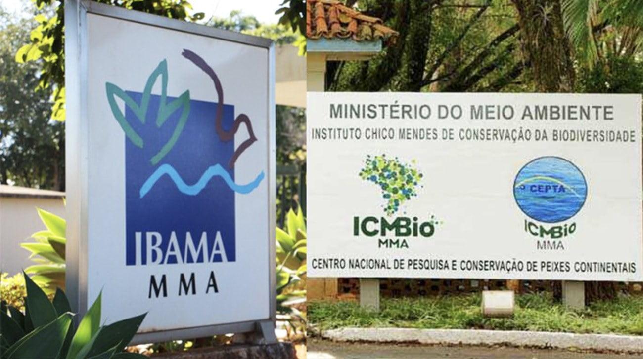 Imagem que remete a fusão do Ibama e ICMBio