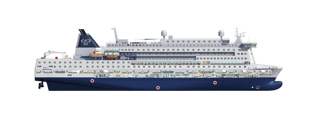 Ilustração do maior navio-hospital do mundo