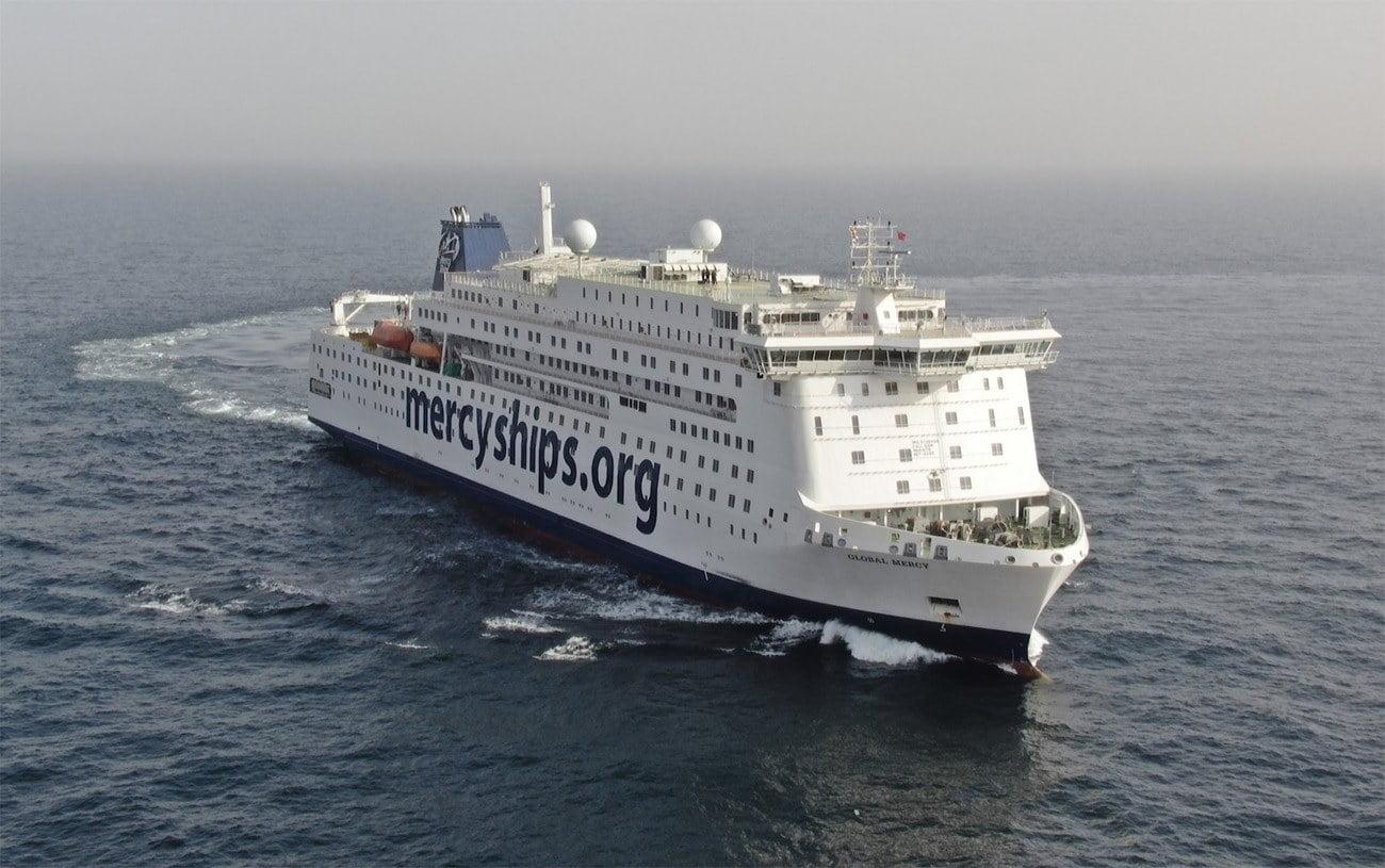 Imagem do maior navio-hospital do mundo