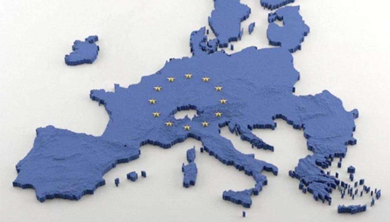 Imagem de mapa da União Europeia