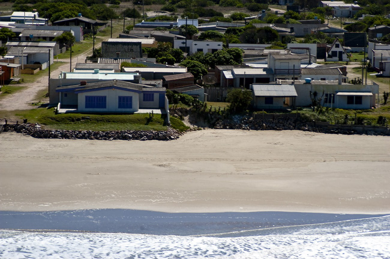 Imagem mostra mar mais perto da cidade costeira