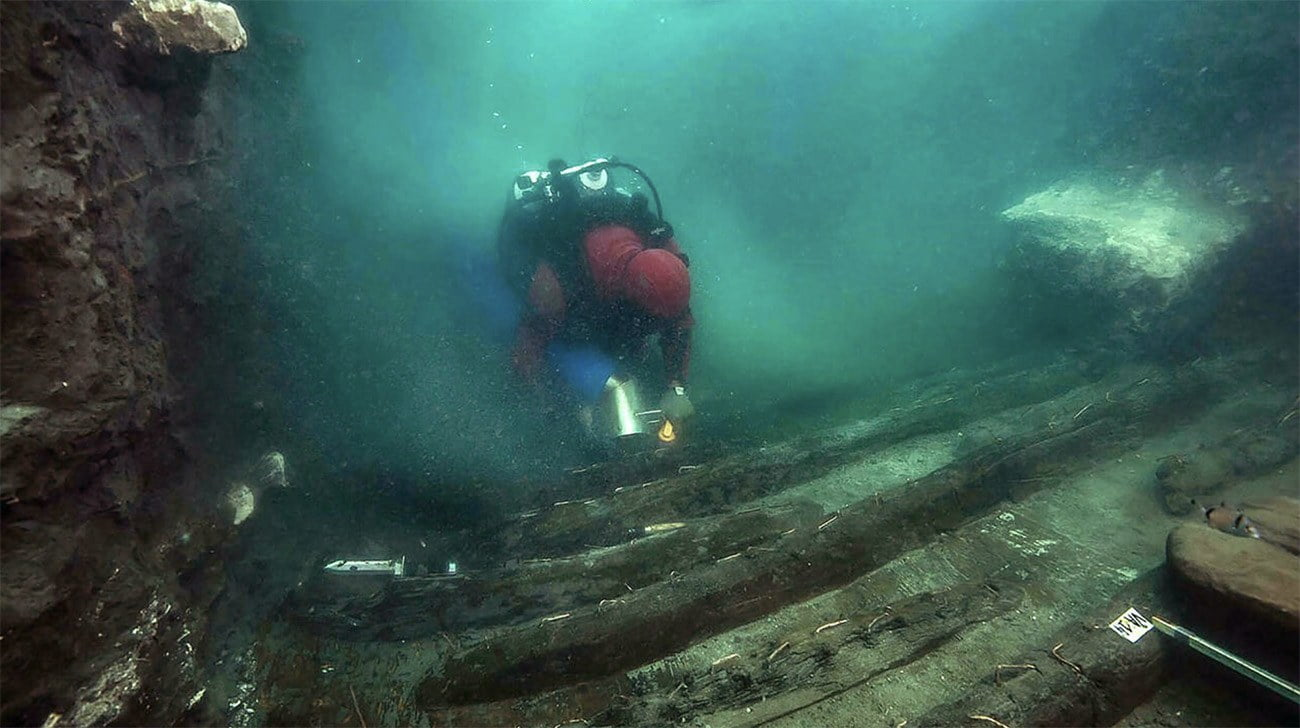 Imagem de naufrágio grego recém descoberto