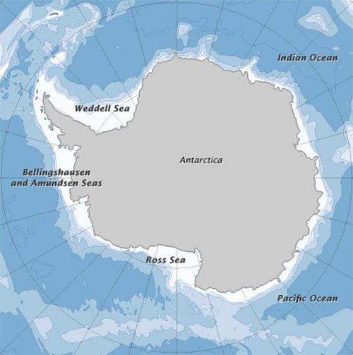 Mapa do mar de Weddell