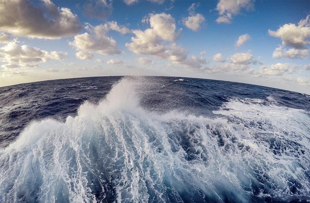Imagem em dos oceanos