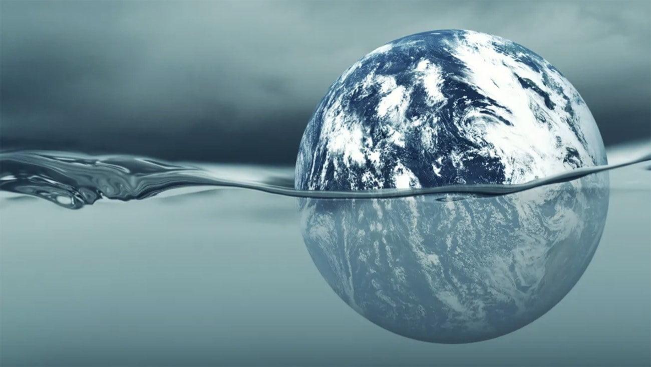 Ilustração remete à alta do nível do mar