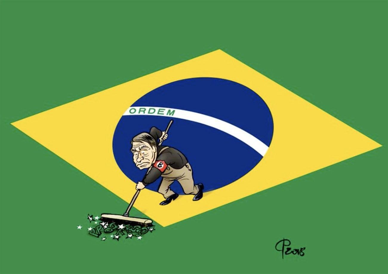 Ilustração da bandeira brasileira