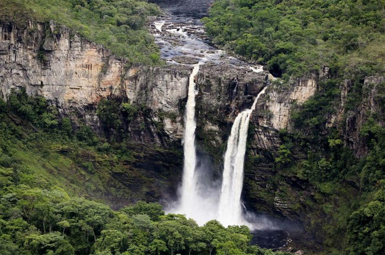 Imagem de cachoeiras no Cerrado