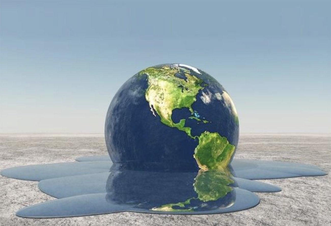 Ilustração mostra globo derretendo