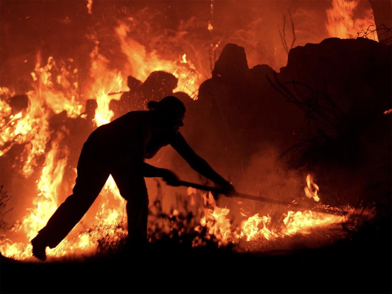 Imagem de incêndio descontrolado