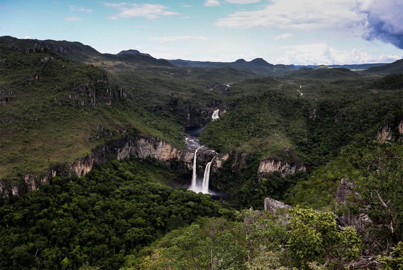 Imagem de nascentes de água no bioma Cerrado