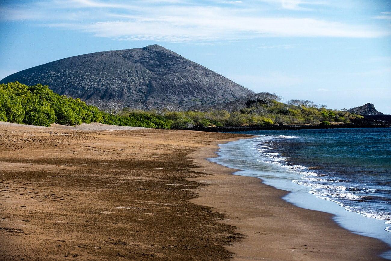 Imagem de praia em Galápagos