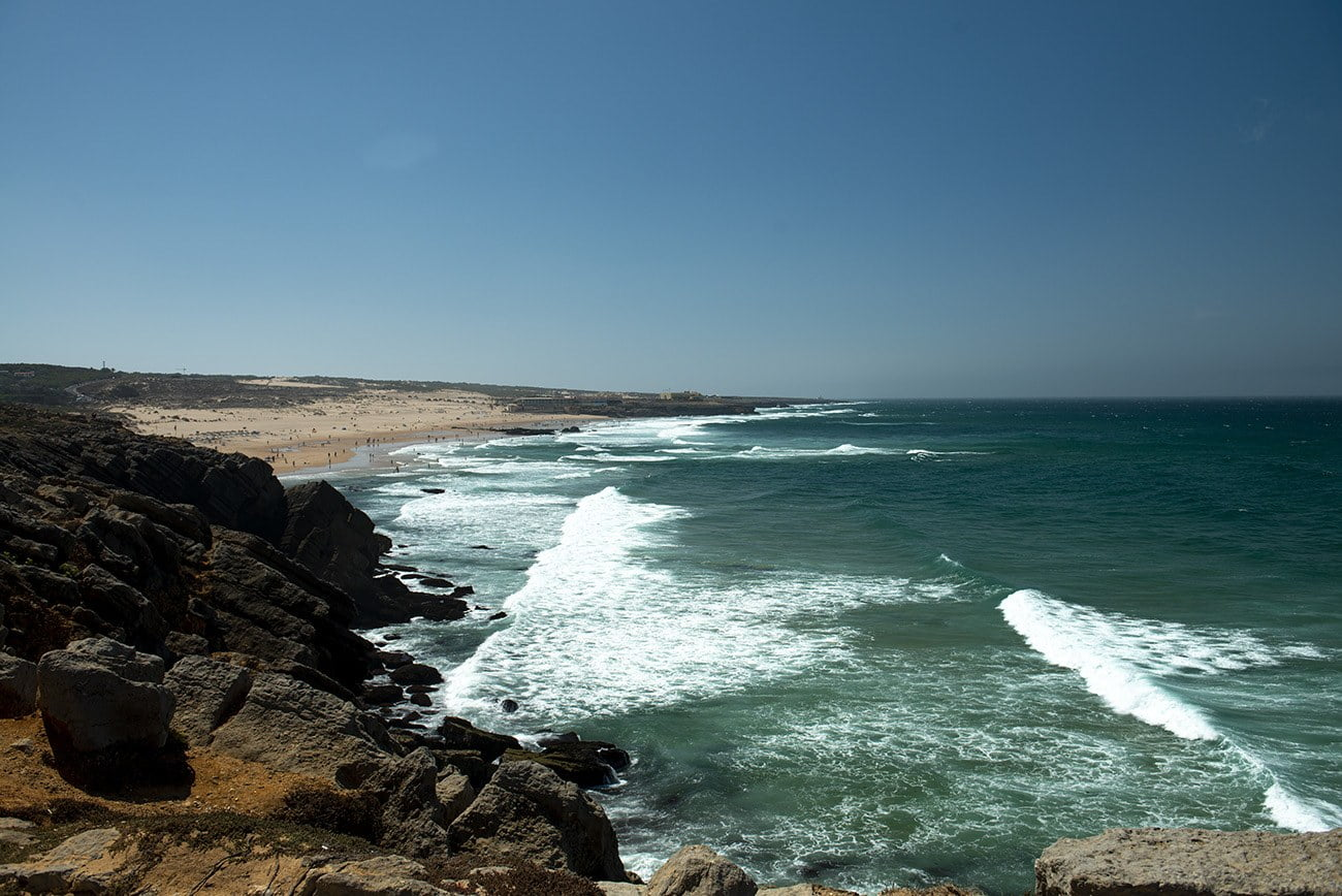 Imagem da areia da praia em Portugal