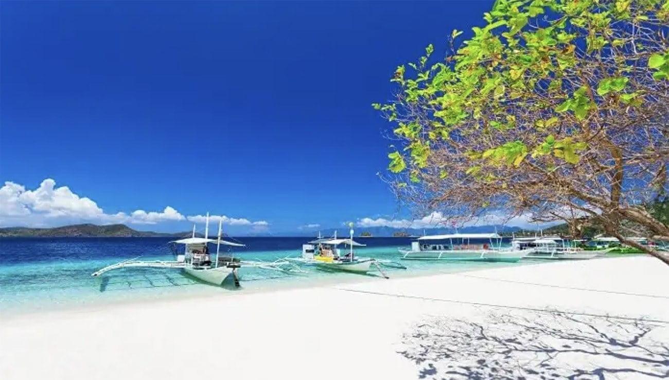 Imagem de praia nas Filipinas