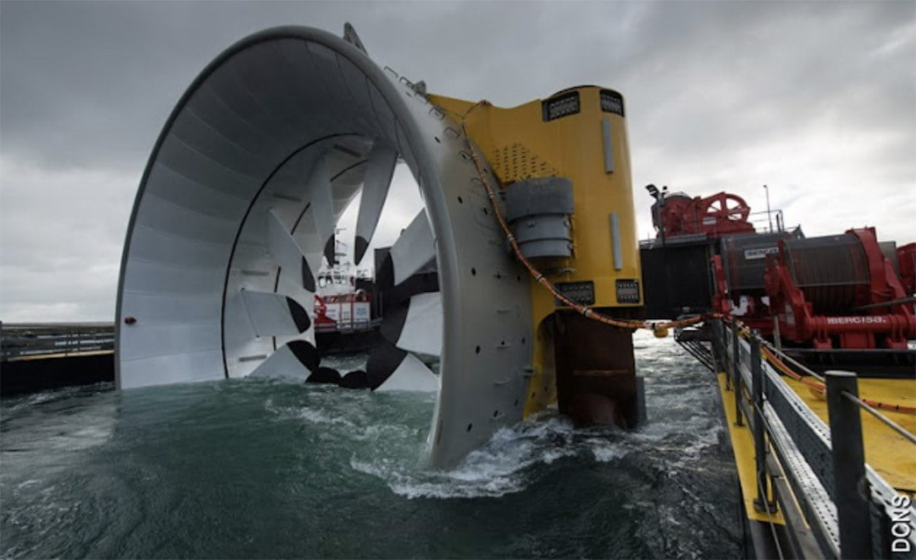Imagem de turbina de marés