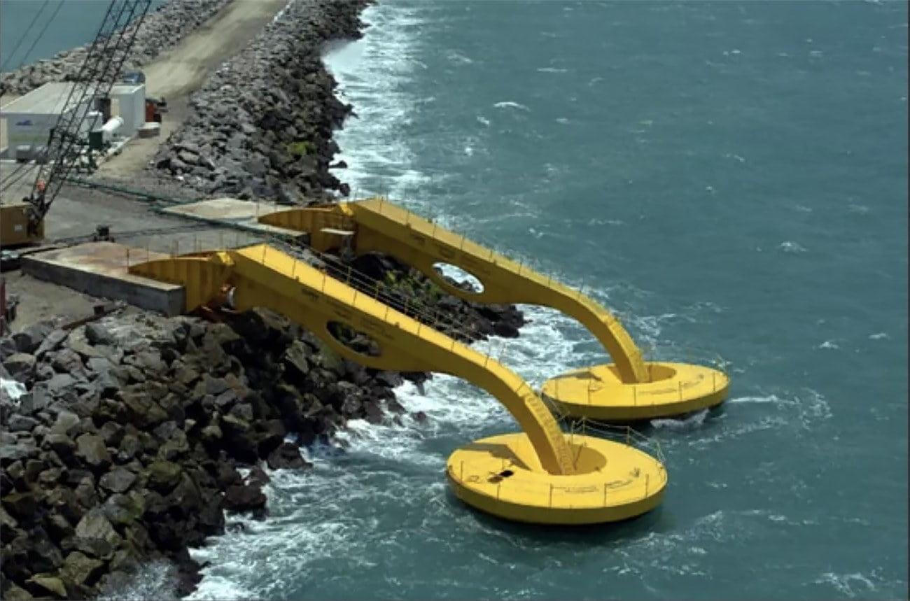 imagem de usina de ondas e marés em Pecém, Ceará