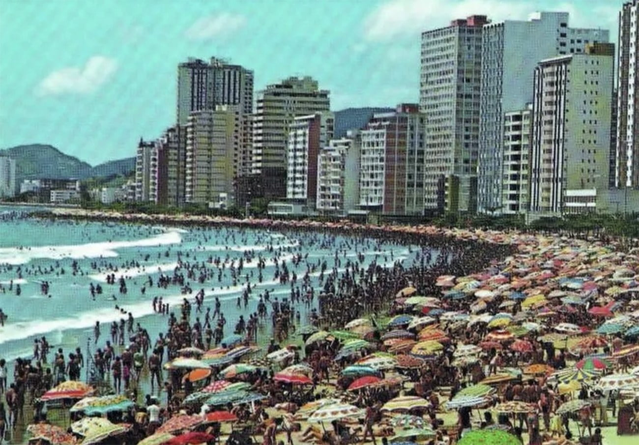 Imagem do Balneário de Camboriú em 1990