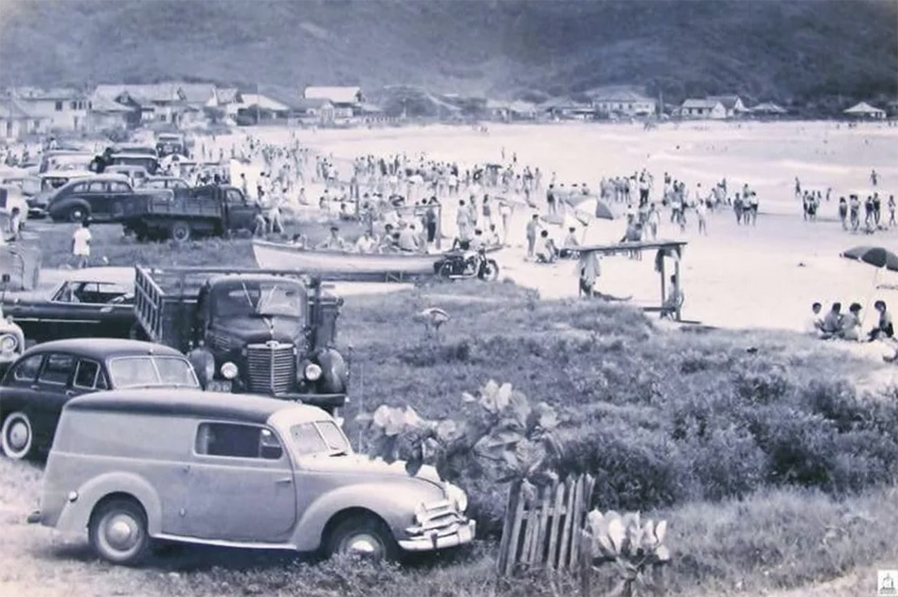 Imagem do Balneário de Camboriú em 1958