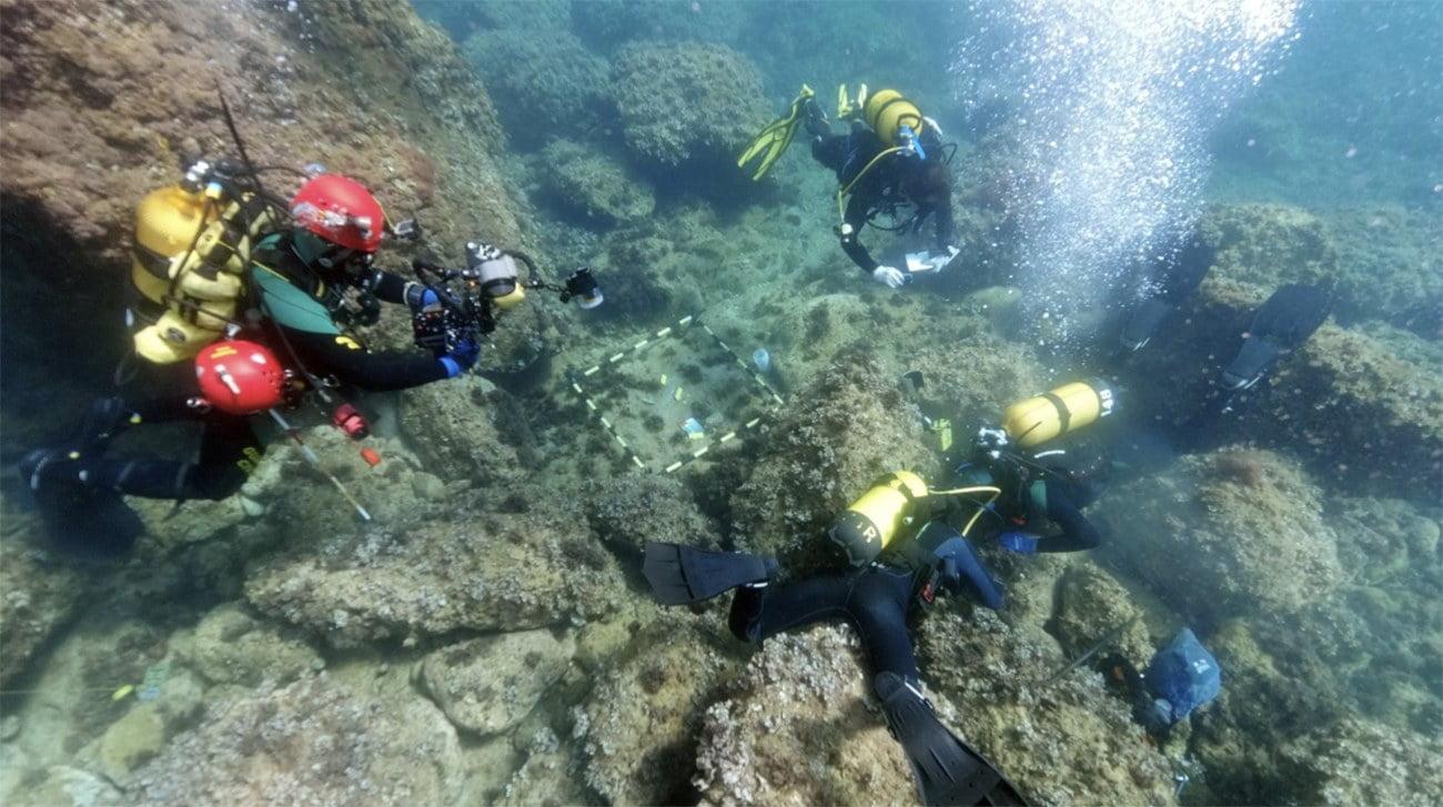 Imagem de mergulhadores amadores