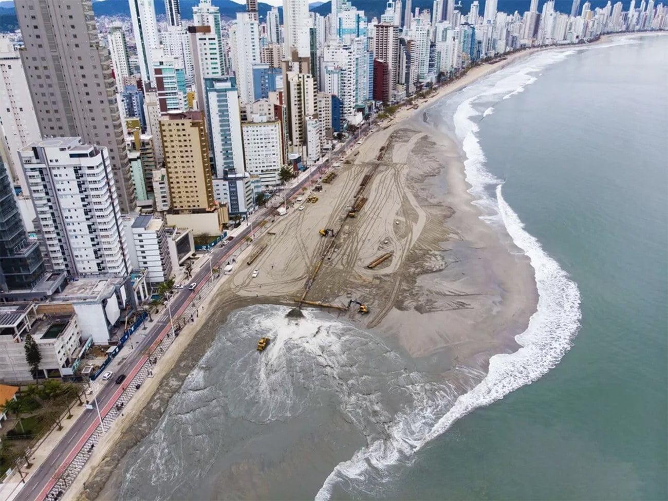 Imagem de engorda da Praia Central